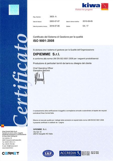 Dipiemme - ISO90001